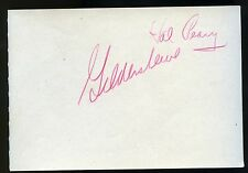 """Vintage HAL PEARY """"Gildersleeve"""" Signed/Autographed 1940s album page RARE"""