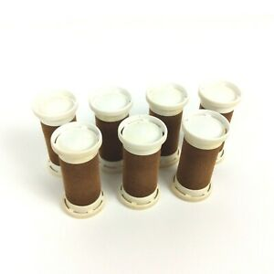 Clairol Replacement Flocked Hair Curlers Rollers 7 Medium Size