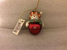 Ganz Jingle Bell Snowman Ornament Personalized JILL Great Stocking Stuffer