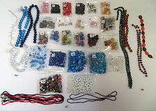 1LOT OF NEW JEWELRY BEADS 2000+ PIECES 3 LBS PLASTIC METAL WOOD GLASS STRANDS