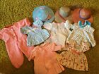 Huge Lot of Vintage Doll Clothes Hats Accessories Dresses Pajamas