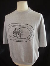 Sweat de football vintage OM Marseille Gris Taille XXL