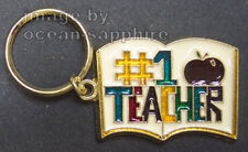 TEACHER Key Ring Keychain Key Chain  #1 Teacher School NEW Great gift