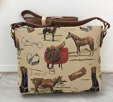 NEW SIGNARE Tapestry  Horse Tack Equestrian Handbag Bag Purse X Long Strap