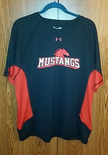SMU mustangs Black/Red Shirts Under Armour Mens Large Short Sleeve
