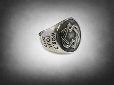Rare Limited Leonard Cohen WORLD TOUR 2010 SOLID STERLING SILVER RING 925