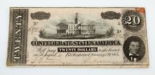 1864 Confederate States of America $20 Note in VF Condition