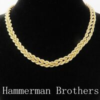 NYJEWEL Hammerman Brothers 14k Gold Diamond Rope Chain Buckle Necklace