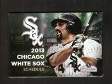 Chicago White Sox--Paul Konerko--2013 Pocket Schedule--Miller Lite