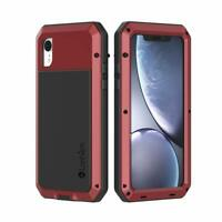 Lanhiem iPhone XR Case, Heavy Duty Shockproof Tough Armour Metal Case with