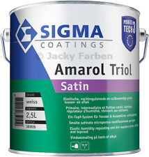 2,5 Ltr Sigma Amarol Triol Satin Power Tech 3 Ventilack Fensterlack