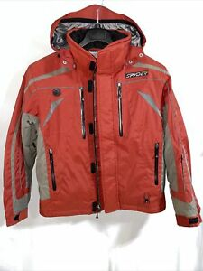Spyder Thinsulate Zip Up Red / Gray Jacket Size S Men's Ski Snow Sports