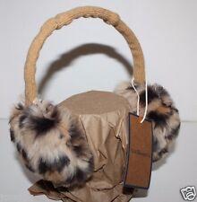 GH Bass NWT Women's Faux Fur Leopard Ear Muffs w/ Adjustable Band