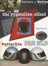Anuncio de revista Vintage De 1982 – Vetter crash Cascos-vetterlite Protección