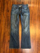 COH CITIZENS OF HUMANITY MED WASH WIDE LEG Tagged sz 25 DENIM JEANS 28 x 33
