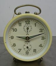 "Meccanica ""Peter"" SVEGLIA SHABBY CHIC VINTAGE ALARM CLOCK-MADE IN GERMANY"