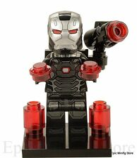 Custom Iron Man War Machine Minifigure Marvel fits with Lego  UK Seller