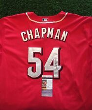 AROLDIS CHAPMAN CINCINNATI REDS SIGNED Red Jersey JSA/COA J15906 Yankees