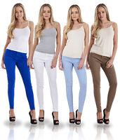 Ladies Slim Fit Jeggings Coloured Stretch Plain Skinny Denim Plus Size Jeans