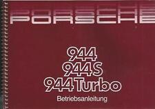 PORSCHE 944 944 S 944 TURBO 1988 Betriebsanleitung Bedienungsanleitung  BA