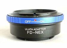 ULATA Lens Adapter +Rear Cap Canon FD to Sony E FE Mount Camera A7 A6000 NEX BL