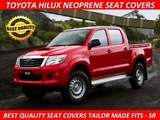 FRONT PAIR NEOPRENE SEAT COVERS SUITS HILUX SR  (JUNE 2005 - AUGUST 2015)