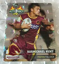 Nrl Rugby League 2006 Hot Shot Silver Tazo 1 Karmichael Hunt Broncos Tazos Cards