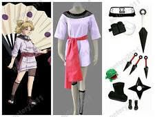 Naruto Anime Cosplay Temari 1st Costume Halloween Set