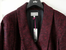 M&S Per Una Claret Colour SZ16 Wool Blend Double Breasted Coat, BNWT, Was £99