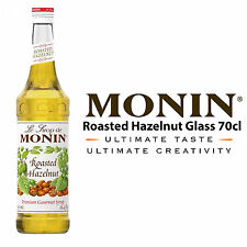 MONIN Coffee Syrups - 70cl Glass ROASTED HAZELNUT Syrup - USED BY COSTA COFFEE