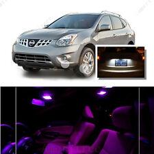 For Nissan Rogue 2008-2013 Pink LED Interior Kit + Xenon White License Light LED