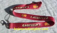 GARDFIELD chat dessin TOUR COU porte clef Badge cordon KEYCHAIN MP clef lanyard