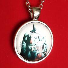 925 Silver Plt Cabochon Harley Quinn Batman Pendant Necklace Ladies Girls Gift