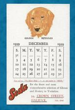 1939 ADVERTISING PC SEDA GLOVES, 39 CROWN STREET, HALIFAX - GOLDEN RETRIEVER