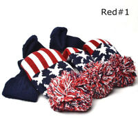 Golf Pom Pom Wood Head Cover 3 Pcs Knit Cover For Driver Fairway Wood Headcovers