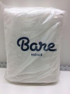 Bare Home Cotton Velvet Flannel Fitted Bottom Sheet Biodegradable Queen White