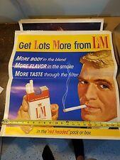Vintage L&M Tobacco Cigarette Advertising Poster