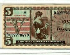 """$5 """"SERIES 661"""" (MILITARY PAYMENT CERTIFICATE) $5 """"SERIES 661"""" SUPER CRISPY!!!!"""