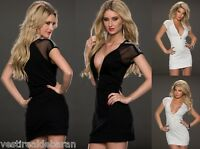 Miniabito Vestito Donna Abito TT STUDIO C095 Nero Grigio Bianco Tg S/M M/L
