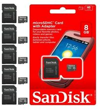 SANDISK 8GB MicroSDHC MICROSD SDHC SD FLASH TF MEMORY CARD  WHOLESALE LOT OF 5