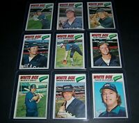 1977 TOPPS CHICAGO WHITE SOX COMPLETE TEAM SET 30 CARDS EXMT-NM GOOSE GOSSAGE