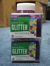 "Sulyn Extra Fine Glitter ""Amethyst"" 2.5 oz LOT OF TWO (2)"