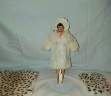 Barbie Faux Fur Coat and Halo Hat Ivory Beaver also included rug and throw