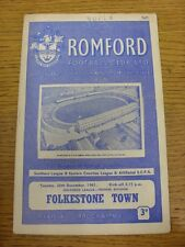 26/12/1961 Romford v Folkestone Town  (Light Crease, Small Pen Mark On Top Of Co