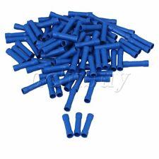 100pcs Blue Butt Joiners Auto Connectors Insulated Crimp Terminals Splices