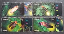 2010 Malaysia Insects Kelip-Kelip Firefly 4v Stamps Set plate side tabs Mint NH