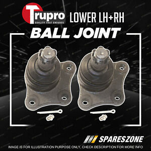 Pair Trupro Lower Ball Joints for Ford Econovan Spectron Van 1983-2006
