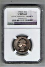 1932-S, US Washington Quarter , Circulated, .18084 oz slv   (US-147)