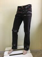 Just Cavalli men's brown jeans with paint
