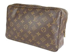 LOUIS VUITTON TROUSSE TOILETTE 28 Monogram Canvas Cosmetic Pouch Bag LP4783